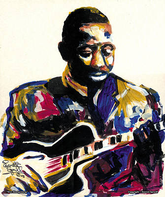 Jacob Lawrence Mixed Media - Wes Montgomery by Everett Spruill