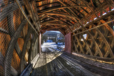 Bennington Photograph - West Arlington Covered Bridge - Bennington Vermont by Joann Vitali