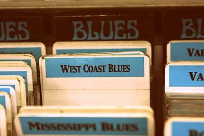 West Coast Blues Print by Sarah Bergan