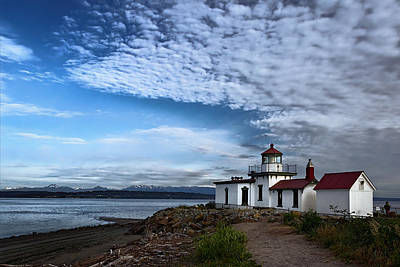 West Point Lighthouse Original by Joan Carroll