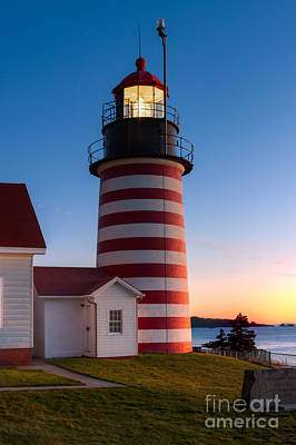 Quoddy Head State Park Photograph - West Quoddy Head Light At Dawn I by Clarence Holmes