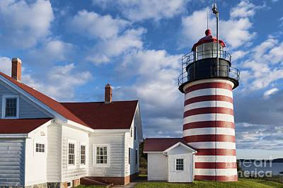 West Quoddy Head Lighthouse Print by John Greim