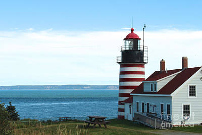 East Coast Photograph - West Quoddy Head Lighthouse by Kathleen Garman
