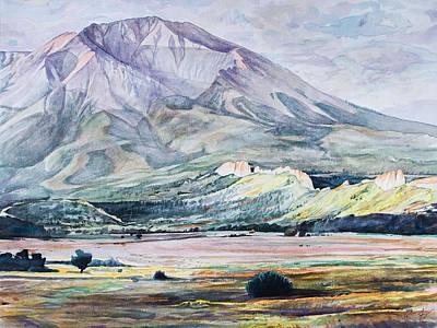 Wyoming Painting - West Spanish Peak by Aaron Spong