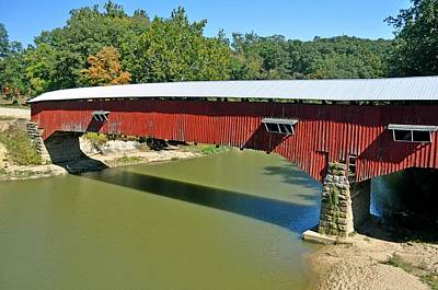 West Union Covered Bridge 2 Print by Marty Koch