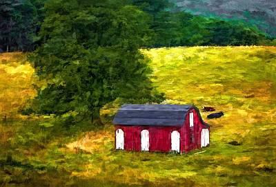 West Virginia Painted Print by Steve Harrington