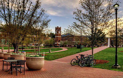 Western Carolina University Campus Print by Greg Mimbs