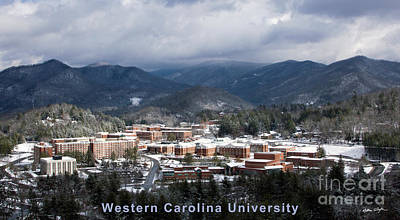 Western Carolina University Winter  Print by Matthew Turlington