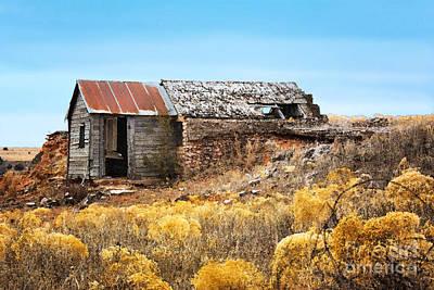 Abandoned House Digital Art - Western Half Dugout by Betty LaRue