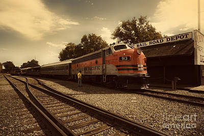 Caboose Photograph - Western Pacific 1 by Cheryl Young