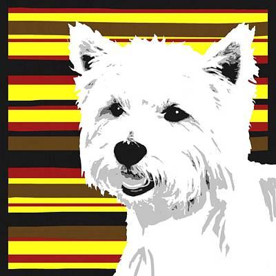 Westie Digital Art - Westie by Cindy Edwards