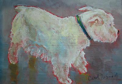 Westie Dog Print by Carol Jo Smidt