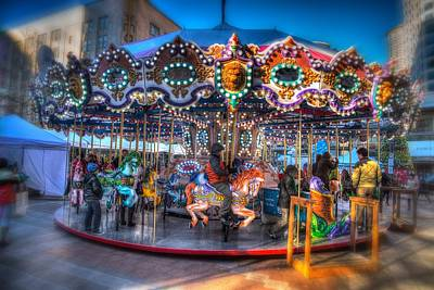 Pandora Photograph - Westlake Carousel by Spencer McDonald
