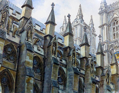 Westminster Abbey Painting - Westminster Abbey IIi  by Henrieta Maneva