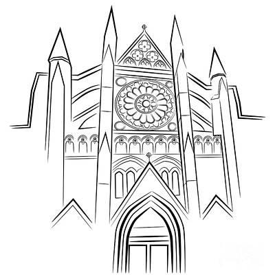 Westminster Abbey Digital Art - Westminster Abbey by John Takai
