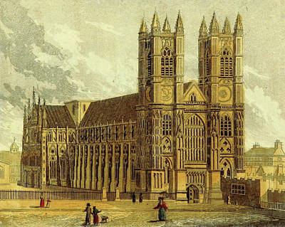 Westminster Abbey Drawing - Westminster Abbey, Uk, 19th Century by Litz Collection