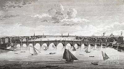 Westminster Bridge, London, Print by British Library