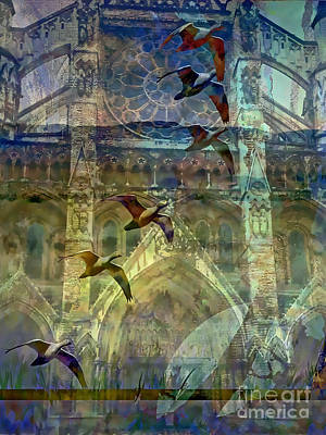 Westminster Abbey Digital Art - Westminster Cathedral by Ursula Freer