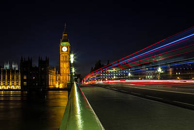 Bus Photograph - Westminster by Martin Newman