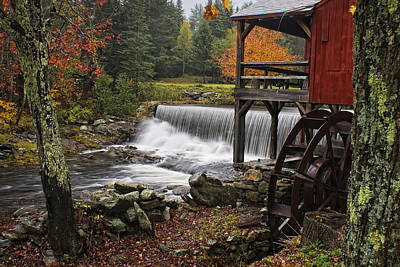 Vermont Country Store Photograph - Weston Grist Mill by Priscilla Burgers