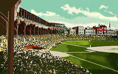 Westside Park Baseball Stadium In Chicago Il In 1914 Print by Dwight Goss