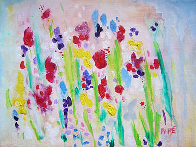 Wet Flowers Original by Mariam Pare