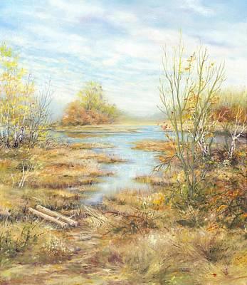 Czech Republic Painting - Wetlands by Marie Veselska