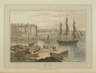 Weymouth Harbour Print by British Library