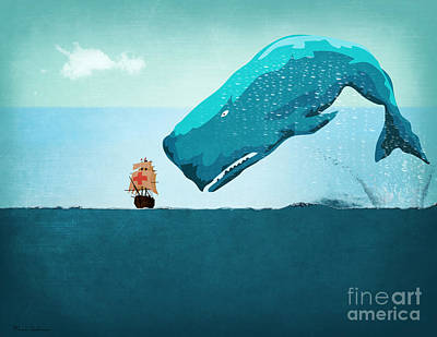 Work Digital Art - Whale by Mark Ashkenazi