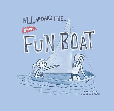 Hacky Sack Digital Art - Whamo - Fun Boat by Brand A
