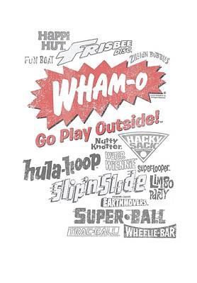 Hacky Sack Digital Art - Whamo - Go Play Outside by Brand A