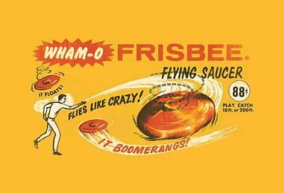 Hacky Sack Digital Art - Whamo - Retro Frisbee Ad by Brand A
