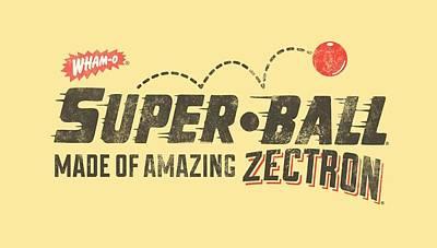 Hacky Sack Digital Art - Whamo - Super Ball by Brand A