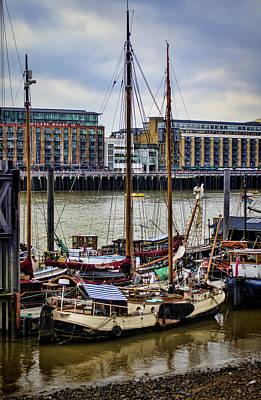Historic Schooner Photograph - Wharf Ships by Heather Applegate