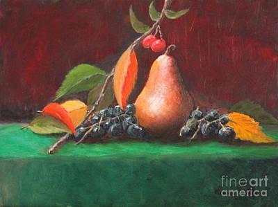 Bosc Pear Original by Louise Williams