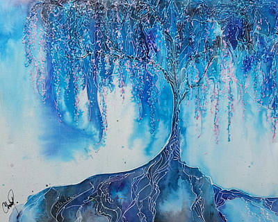Tree Roots Painting - What Dreams May Come by Christy  Freeman