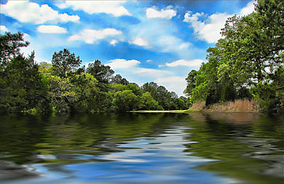 What I Remember About That Day On The River Print by Wendy J St Christopher