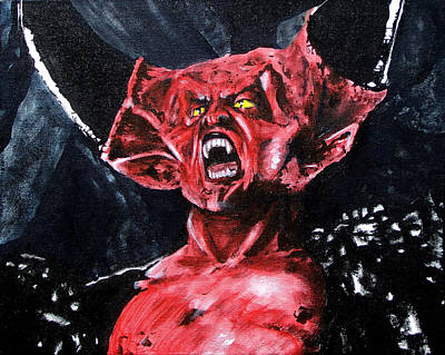 Tim Curry Painting - What Is Light Without Dark by Jack Irons