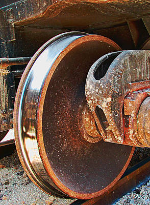 Locomotive Wheels Photograph - What Lies Beneath by Wendy J St Christopher