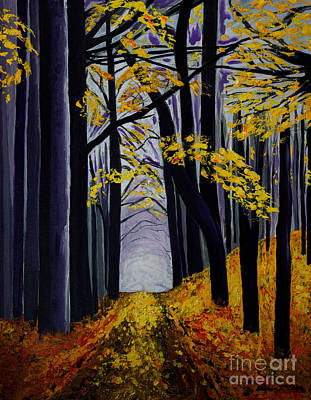 Acrylic Painting - What Lies Beyond by Barbara McMahon
