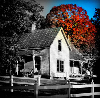 Old House Photograph - What The Heart Remembers by Karen Wiles