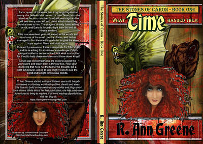 Book Jacket Design Painting - What Time Handed Them by Michelle Rene Goodhew