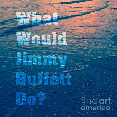 Parrotheads Photograph - What Would Jimmy Buffet Do Square by Edward Fielding