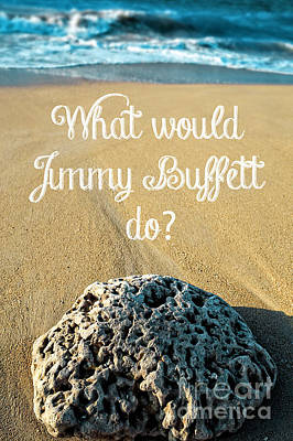 What Would Jimmy Buffett Do Print by Edward Fielding