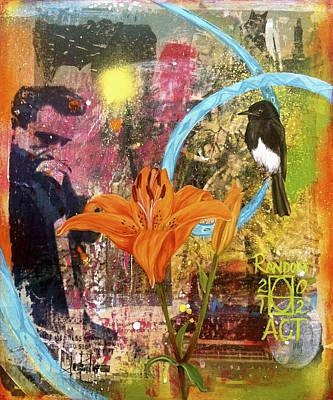 Johnny Cash Mixed Media - Whats Up Tiger Lily by Andrea LaHue aka Random Act