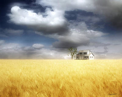 Wheat Field Print by Cynthia Decker