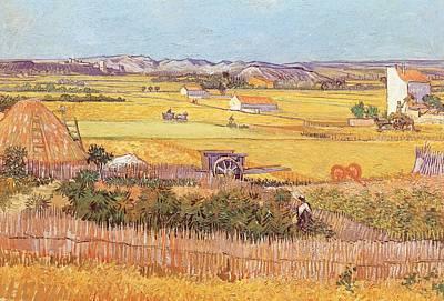 Wheatfields Print by Vincent van Gogh