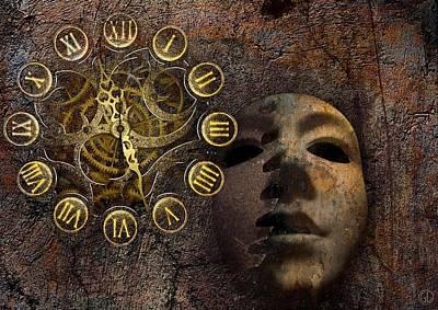 Mask Digital Art - Wheels Of Time by Gun Legler