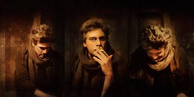 Cigarette Mixed Media - When A Man Loves A Woman - Emotive Vintage by Georgiana Romanovna