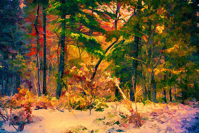 Snowstorm Painting - When Fall Becomes Winter by John Haldane